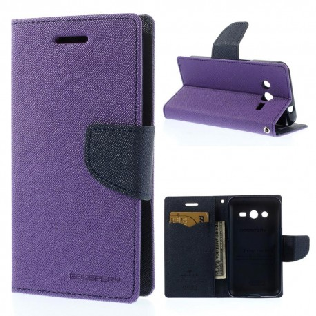 Samsung Galaxy Core 2 - etui na telefon i dokumenty - Fancy purpurowe