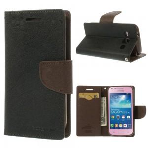 Samsung Galaxy Core Plus - etui na telefon i dokumenty - Fancy czarne