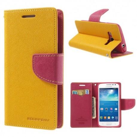 Samsung Galaxy Express 2 - etui na telefon i dokumenty - Fancy żółte