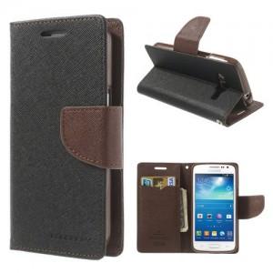 Samsung Galaxy Express 2 - etui na telefon i dokumenty - Fancy czarne / brązowe