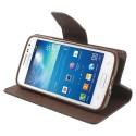 Samsung Galaxy Express 2 Etui – Fancy Czarne / Brązowy