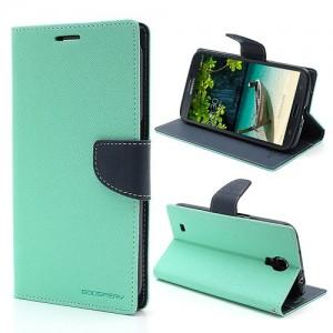 Samsung Galaxy Mega 6.3 - etui na telefon i dokumenty - Fancy cyjan