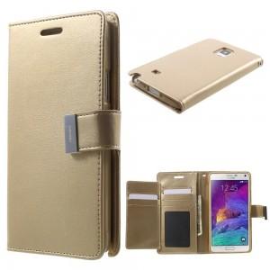 Samsung Galaxy Note 4 - etui na telefon i dokumenty - Rich Diary szampan