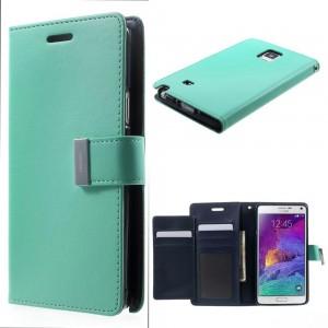 Samsung Galaxy Note 4 - etui na telefon i dokumenty - Rich Diary cyjan