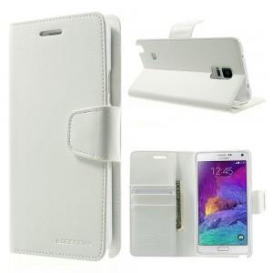 Samsung Galaxy Note 4 - etui na telefon i dokumenty - Sonata białe