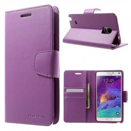 Samsung Galaxy Note 4 - etui na telefon i dokumenty - Sonata purpurowe