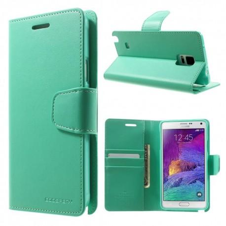 Samsung Galaxy Note 4 - etui na telefon i dokumenty - Sonata cyjan