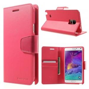 Samsung Galaxy Note 4 - etui na telefon i dokumenty - Sonata ciemnoróżowe