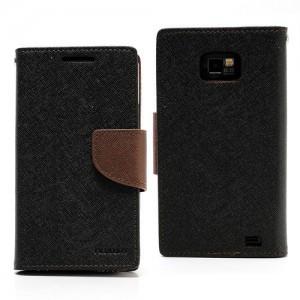 Samsung Galaxy S2 - etui na telefon i dokumenty - Fancy czarne