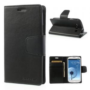 Samsung Galaxy S3 - etui na telefon i dokumenty - Sonata czarne