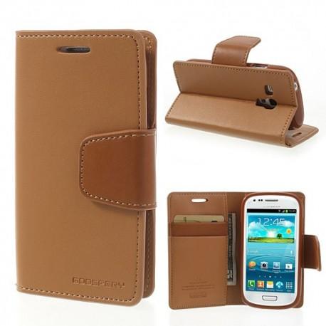 Samsung Galaxy S3 Mini - etui na telefon i dokumenty - Sonata brązowe