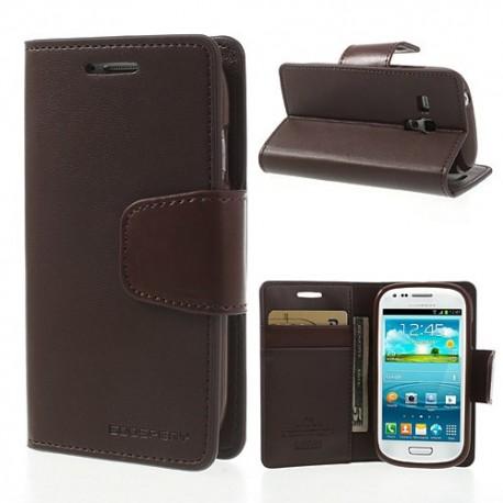 Samsung Galaxy S3 Mini - etui na telefon i dokumenty - Sonata ciemnobrązowe