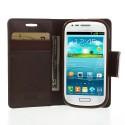 Samsung Galaxy S3 Mini Portfel Etui – Sonata Ciemny Brązowy