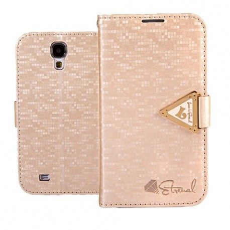 Samsung Galaxy S4 - etui na telefon i dokumenty - Leiers Eternal złote