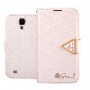 Samsung Galaxy S4 - etui na telefon i dokumenty - Leiers Eternal białe
