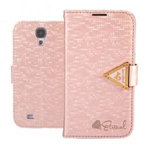 Samsung Galaxy S4 - etui na telefon i dokumenty - Leiers Eternal różowe