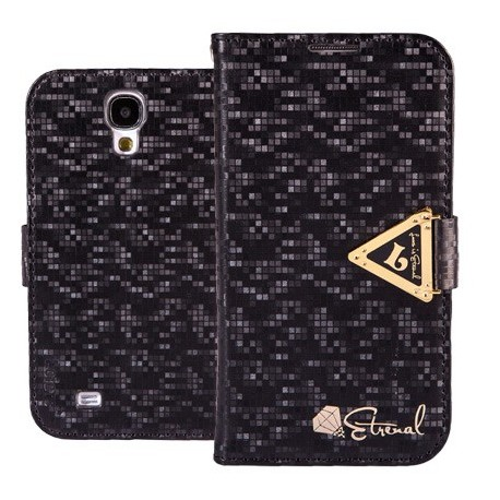 Samsung Galaxy S4 - etui na telefon i dokumenty - Leiers Eternal czarne