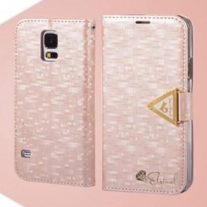 Samsung Galaxy S5 - etui na telefon i dokumenty - Leiers Eternal różowe V