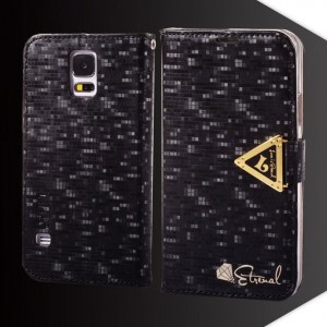 Samsung Galaxy S5 - etui na telefon i dokumenty - Leiers Eternal czarne V