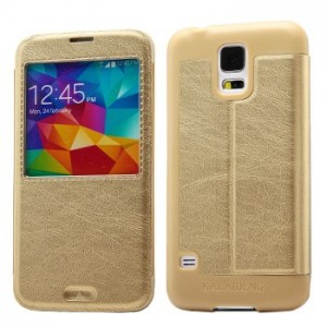 Samsung Galaxy S5 - etui na telefon - KLD KA okno złote