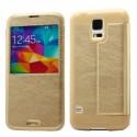 Samsung Galaxy S5 Etui Okno KLD KA – złoty