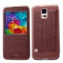 Samsung Galaxy S5 Etui Okno KLD KA – Wino Czerwone