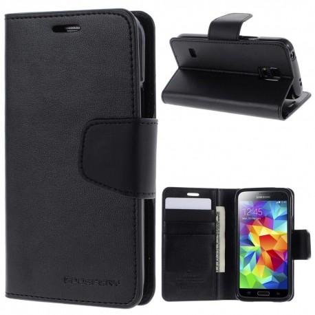 Samsung Galaxy S5 Mini - etui na telefon i dokumenty - Sonata czarne
