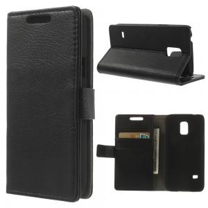 Samsung Galaxy S5 Mini - etui na telefon i dokumenty - Lychee czarne V