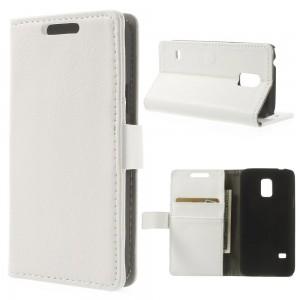 Samsung Galaxy S5 Mini - etui na telefon i dokumenty - Lychee białe
