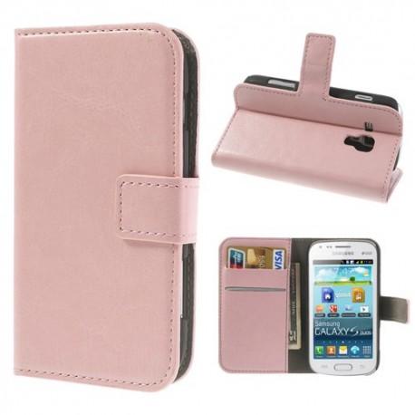 Samsung Galaxy Trend / Trend Plus - etui na telefon i dokumenty - CH różowe
