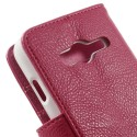 Samsung Galaxy Trend 2 Etui – Litchi Ciemny Różowy
