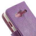 Samsung Galaxy Trend 2 Etui – Litchi Purpurowy