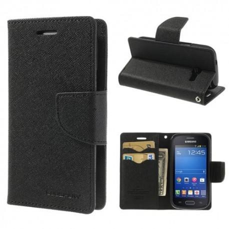 Samsung Galaxy Trend Lite - etui na telefon i dokumenty - Fancy czarne