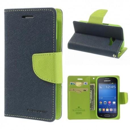 Samsung Galaxy Trend Lite - etui na telefon i dokumenty - Fancy niebieskie