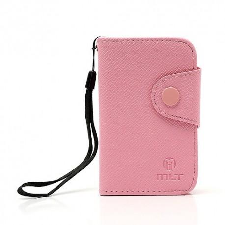 Samsung Galaxy Y - etui na telefon i dokumenty - MLT różowe