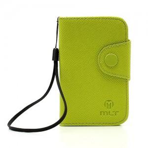 Samsung Galaxy Y - etui na telefon i dokumenty - MLT zielone