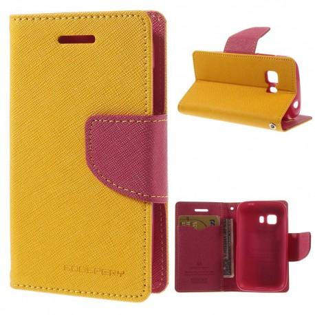 Samsung Galaxy Young 2 - etui na telefon i dokumenty - Fancy żółte