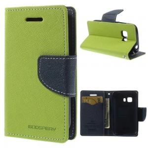Samsung Galaxy Young 2 - etui na telefon i dokumenty - Fancy zielone