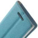 Sony Xperia E3 Portfel Etui – Niebieski Litchi