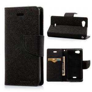 Sony Xperia J - etui na telefon i dokumenty - Fancy czarne