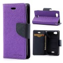 Sony Xperia J Portfel Etui – Fancy Purpurowy