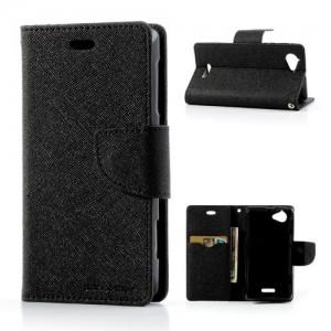Sony Xperia L - etui na telefon i dokumenty - Fancy czarne