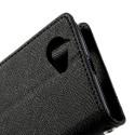 Sony Xperia L Portfel Etui – Fancy Czarne