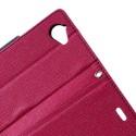 Sony Xperia L Portfel Etui – Fancy Ciemny Różowy