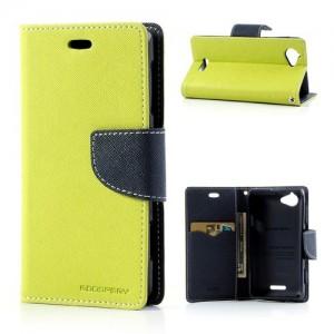 Sony Xperia L - etui na telefon i dokumenty - Fancy zielone