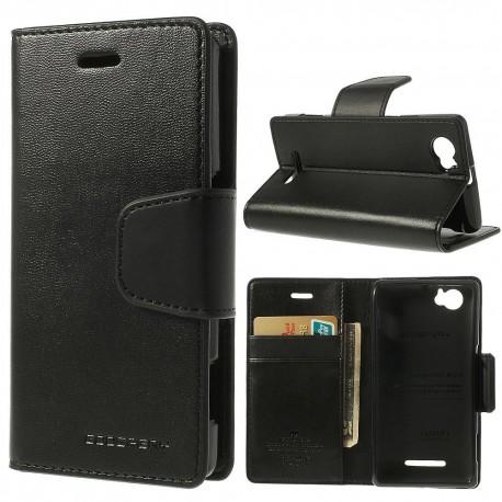 Sony Xperia M - etui na telefon i dokumenty - Sonata czarne