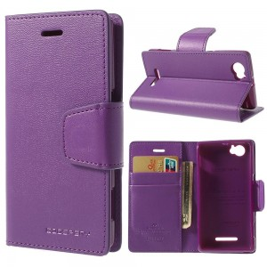 Sony Xperia M - etui na telefon i dokumenty - Sonata purpurowe