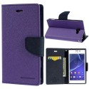Sony Xperia M2 Portfel Etui – Fancy Purpurowy