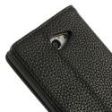 Sony Xperia M2 Portfel Etui – Litchi Czarne