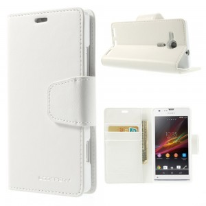 Sony Xperia SP - etui na telefon i dokumenty - Sonata białe